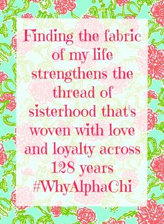 We want to hear your story! Tell us #WhyAlphaChi  #CoffeeWithCelia