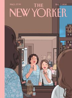 audio that might somehow be adapted, not only as a cover but also as an animation that could extend the space and especially the emotion of the usual New Yorker image. (Cover-Story-Chris-Ware-ART, Great conbo of mag cover, audio and animation. The New Yorker, New Yorker Covers, Magazine Wall, Magazine Design, Print Magazine, Capas New Yorker, Book Design, Cover Design, Design Design
