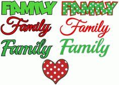 Silhouette Design Store: family and polka dot heart