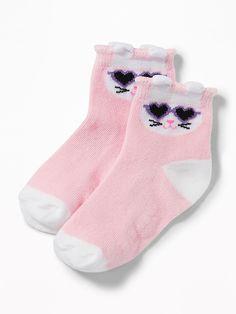 Old Navy Novelty-Graphic Crew Socks for Toddler & Baby Sock Hop Outfits, Toddler Outfits, Toddler Girls, Girls Socks, Baby Socks, Boys Underwear, Boy Baby Shower Themes, Shop Old Navy, No Show Socks