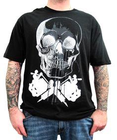 "Men's ""Skull Machine"" Tee by Inked (Black) #InkedShop #skull #tattoomachine #menswear #mens #clothing #tee"