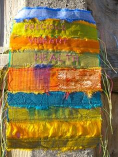 The Prayer Flag Project ~ A collective project spreading peace, good will and kindness, one flag at a time. Fabric Painting, Fabric Art, Peace Flag, Flag Art, Stitch Book, Prayer Flags, Fabric Journals, Camping Crafts, Textiles