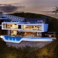 "Gefällt 59 Mal, 1 Kommentare - Billionaire Houses (@billionairehouses) auf Instagram: ""Stunning Modern Home Follow @billionairemansions"""