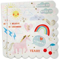 Unicorn Large Paper Party Napkins - Unicorn & Rainbow - Party Themes A-Z - Kids' Party