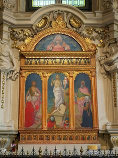 Milan (Italy): Triptych of Resurrection with Saints John the Baptist and Evangelist and the Commitments St Maria, Italy History, Cultural Events, John The Baptist, Canvas Home, Ancient Ruins, Milan Italy, Triptych, Pilgrimage