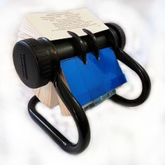 Rolodex R48 Rotary Business Card Organizer Black Vintage Swivel