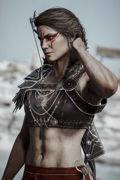 Arte Assassins Creed, Assassins Creed Odyssey, Fantasy Characters, Female Characters, Character Inspiration, Character Art, Assassin's Creed Wallpaper, Warrior Girl, Badass Women