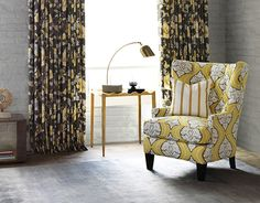 Genial Robert Allen Winston Chair Covered With Dwell Studio Fabric Kavali Ogee In  Dandelion