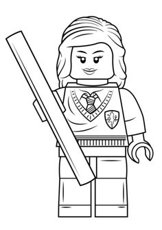 Lego Harry Potter Printable Drawing For Children Online Coloring Book 5