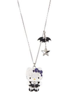 08104278b Swarovski Hello Kitty Gothic Pendant Necklace (i have the earrings that  match this) may get this necklace to go with them some day!