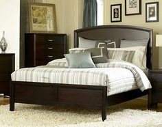 Another Beautiful & Simple Design of a Solid Wood Bed for your Bedroom.  Get 'Top Trends' in Decor this Season at http://www.constructionmarkets.com/decor/top_5_trends_this_season