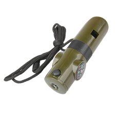 7 в 1 универсальный комплект для выживания лупа свисток компас термометр фонарь светодиодный