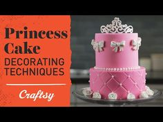 Video tutorial | Princess Cake Ideas: Tiara & Rose Sugar Designs on Craftsy YouTube. Make a girly-inspired cake for the princess in your life, and top it all off with an unbelievably easy hand-piped tiara!