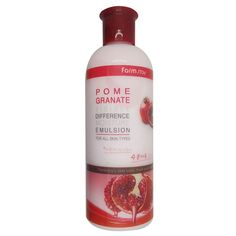 Containing pomegranate extract with various vitamins and anthocyan ingredient and asiatic pennywort extract, Moisture emulsion gives elasticity to rough skin. Rosemary and camomile extracts also help skin to keep moisturized.