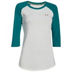 Find the Under Armour Misses' Borderland Tee - Ivory/Emerald Sari by Under Armour at Mills Fleet Farm.  Mills has low prices and great selection on all TShirts.