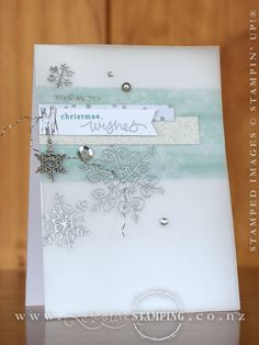 Endless Wishes Vellum Christmas Card