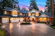 Grand Craftsman Manor - 23643JD | Architectural Designs - House Plans #LuxuryBeddingAwesome