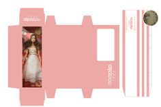 mini printable doll box