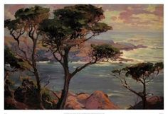 Franz Bischoff Lonely-Headlands-Point-Lakes Oil Painting