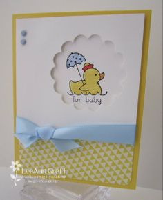 Cute Baby Card! Stampin' Up! Easy Events set.