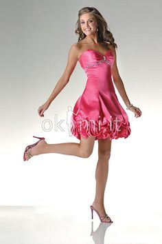 6497bbd2d78ea Cheap Hot Sell Elastic Woven Satin Sweetheart Strapless A-line Cocktail  Dress