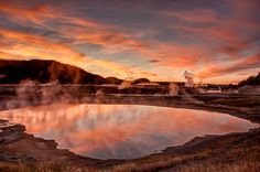 5 epic road trip itineraries through Wyoming - Matador Network Yellowstone at sunset. National Park Lodges, Grand Teton National Park, Yellowstone National Park, National Parks, Wyoming Camping, Wyoming Vacation, Places To Travel, Places To Go, Western Landscape