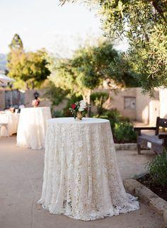 La Tavola Fine Linen Rental: Venice Lace White | Photography: Megan Sorel Photography, Coordination: Jill & Co Events, Event Design: Midtown Design & Events, Floral Design: Shotgun Floral Studio