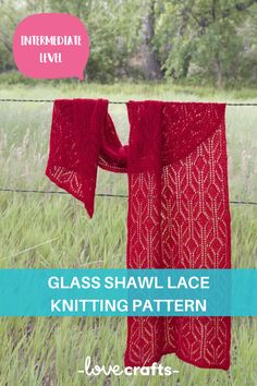 This beautiful shawl brings a glass-like pattern that brings all your knitting knowledge together to create a gorgeous project! | Downloadable PDF at LoveCrafts.com