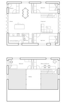 WFH House - Floor Plans for shipping container house