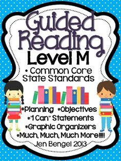 Just Posted!  This is a 75 page resource to help teachers plan, instruct, and assess students in a level M guided reading group.  It covers 28 teaching fiction, nonfiction, and word work objectives that are all linked to Common Core State Standards.  There are tons of printable resources for practical use.  Just add the books and the students!!