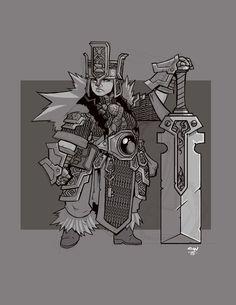Female Dwarf Warrior - Pathfinder RPG PFRPG DND D&D d20 fantasy