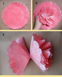 DIY Doily Pom Poms by In the Treehouse