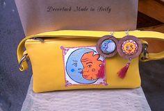 #Lineasoleluna #borsadonna #pochette #bag #orecchiniargento925 #dipintoamanosupelle #accessorimoda #fashion #madeinsicily #decortack