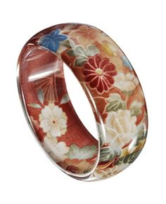 Floral resin bangle from Accessorize