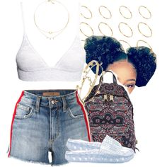 A fashion look from July 2017 featuring Joe's Jeans shorts, H&M bras and Puma sandals. Browse and shop related looks.