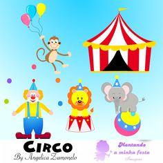 Vetor circo, Macaco vetor, Leão vetor, Elefante vetor, Palhaço vetor, Tenda circo vetor, Bola vetor,