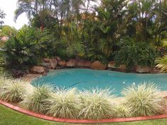 Image detail for -Quiet end of culdesac position – Rock waterfall feature pool