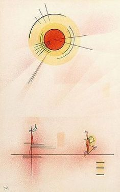 "Wassily Kandinsky - ""Shine"", 1929 when I first saw this painting I thought of Vinyl and what a great cover for a record album it would make! Abstract Words, Abstract Art, Abstract Landscape, Tattoo Abstract, Abstract Paintings, Art Kandinsky, Wassily Kandinsky Paintings, Ivan Serpa, Francis Picabia"