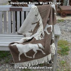 Home Decor, Home Accessories. The Horse blanket is a perfect jazz up for your deco, for cozy snuggling in the cold winter evening, or just to add extra warmth on your bed. Wool Blanket, Horse Blanket, Toddler Denim Dress, Hunting Lodge Decor, Equestrian Decor, Horse Accessories, Home Decor Items, Decorating Your Home, Cozy