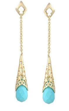 Tamar Earring in Turquoise via boutiika.com