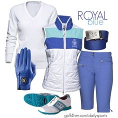 Golf OOTD: Royal Blue. #golf4her #dailysports #holiday #golf #ootd www.golf4her.com/dailysports