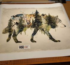 Sold 22x28 on #canvas giclee archival print of my #originalart #Original #art #surrealism #surreal #nature #wolf #wolves #animals #mountains #forest #deer #baldeagle #animal #fantasy #conceptual #artist #etsy #designer #design #graphicdesign #wildlife #outdoors #photoshop #phototag_creative