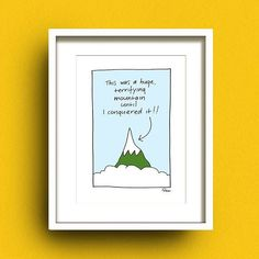 Printed art print by Irish Artist Fran Leavey As Oscar Wilde said, 'Experience is the hardest kind of teacher. Available to buy as a framed or unframed print. Irish Pottery, Irish Design, Irish Art, 10 Frame, Inspirational Gifts, Looking Back, Scary, Challenges, Oscar Wilde