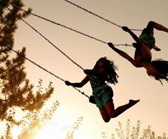 Best friend ❤ why do I feel you I would be the one that fell off the swing? @fangirl37