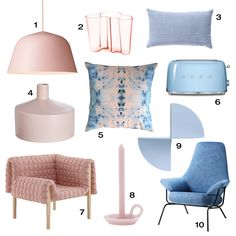 10 home furnishings to match Pantone's Color of the Year Serenity & Rose Quartz Rose Quartz Color, Rose Quartz Serenity, Colorful Decor, Colorful Interiors, Ideas Prácticas, Home Trends, Color Of The Year, Pantone Color, Decoration