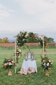 Rustic farm ceremony backdrop: Photography : Tori Watson Photography Read More on SMP: http://www.stylemepretty.com/virginia-weddings/afton/2016/07/12/youve-never-seen-a-farm-wedding-as-pretty-as-this-intimate-fall-day/