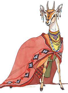HAKOBUNE : Creatures × Traditional dress 少し前に描いたもの。