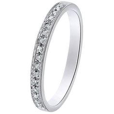L'alliance BUNY est montée sur or blanc, elle est sertie de 16 diamants en demi tour complet qualité GSI d'un poids total de 0,15 carats. [449,00€]