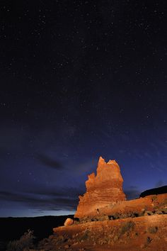 Night sky, Arches National Park, Utah, United States of America.