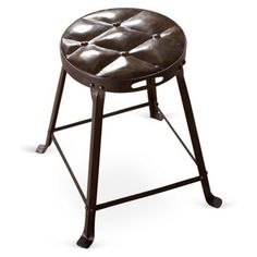 "Check out this item at One Kings Lane! 19"" Smith Dining Stool, Aged Iron"